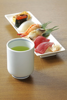 日本茶とにぎり寿司
