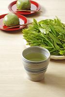 日本茶と茶饅頭