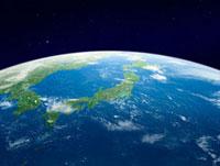 地球 軌道上より日本列島を望む