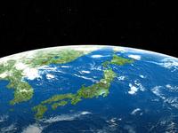 エンボス調の日本地図