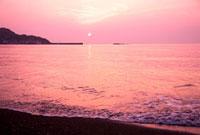館山湾の夕景
