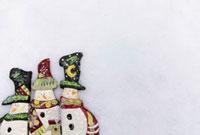 雪だるまのクリスマスイメージ