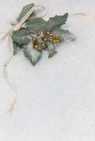 リボンとヒイラギの葉のクリスマスイメージ 10330000178| 写真素材・ストックフォト・画像・イラスト素材|アマナイメージズ