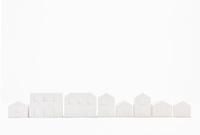 白い建物のオブジェ クラフト