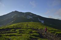 鳥海山と登山者