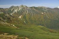 水晶岳と鷲羽岳