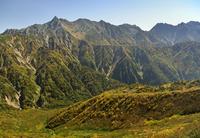 鏡平山荘と槍ヶ岳