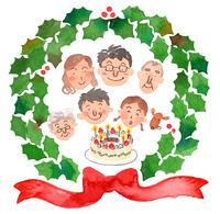 家族でクリスマス 10340000009| 写真素材・ストックフォト・画像・イラスト素材|アマナイメージズ