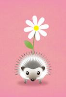 はりねずみの花かざり 10340000040| 写真素材・ストックフォト・画像・イラスト素材|アマナイメージズ