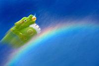 虹を駆け上がる辰