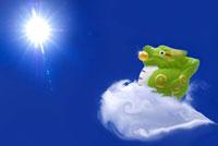 雲に乗る辰