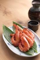 海老と日本酒