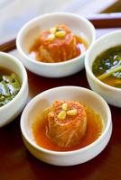 韓国の伝統料理のキムチ