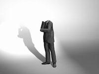思案する透明人間のビジネスマン 10361000021| 写真素材・ストックフォト・画像・イラスト素材|アマナイメージズ