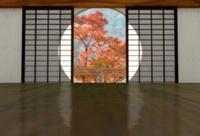 丸窓の和室 秋 10361000192| 写真素材・ストックフォト・画像・イラスト素材|アマナイメージズ