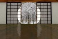 丸窓の和室 冬 10361000193| 写真素材・ストックフォト・画像・イラスト素材|アマナイメージズ