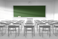 白い教室と黒板 10361000215| 写真素材・ストックフォト・画像・イラスト素材|アマナイメージズ