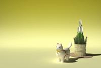 犬の置物と門松 10361000455| 写真素材・ストックフォト・画像・イラスト素材|アマナイメージズ