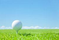 地平線とゴルフボール