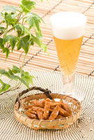 ビールと柿の種