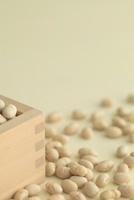枡と節分の煎り豆