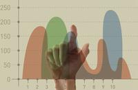 グラフをタッチする指 10387001753| 写真素材・ストックフォト・画像・イラスト素材|アマナイメージズ