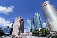 東方テレビタワーが見える都市 10387002100| 写真素材・ストックフォト・画像・イラスト素材|アマナイメージズ
