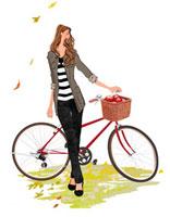 自転車と女の子