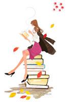 本を読む女の子 10402000022| 写真素材・ストックフォト・画像・イラスト素材|アマナイメージズ