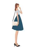 バッグを肩にさげる横向きの女の子 10402000247| 写真素材・ストックフォト・画像・イラスト素材|アマナイメージズ
