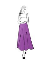 ロングスカートを履いて立つまとめ髪の女性 10402000259| 写真素材・ストックフォト・画像・イラスト素材|アマナイメージズ
