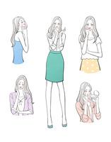 化粧する女の子