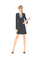 ファイルを持って立つオフィスの女性 10402000421| 写真素材・ストックフォト・画像・イラスト素材|アマナイメージズ