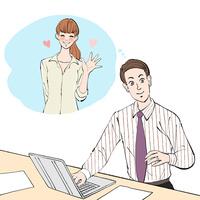 会社で結婚指輪を見ながら妻のことを考える男性 10402000557| 写真素材・ストックフォト・画像・イラスト素材|アマナイメージズ