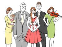 結婚式に呼ばれた友人と会社の同僚 10402000559| 写真素材・ストックフォト・画像・イラスト素材|アマナイメージズ