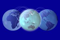 地球儀とネットワーク