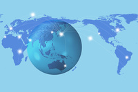 地球儀とネットワーク 10404009703| 写真素材・ストックフォト・画像・イラスト素材|アマナイメージズ