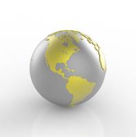 金属の地球儀