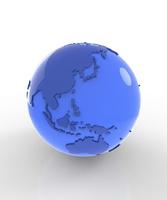 ガラスの地球儀 10404010822  写真素材・ストックフォト・画像・イラスト素材 アマナイメージズ