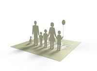 立体の家族 10404010899  写真素材・ストックフォト・画像・イラスト素材 アマナイメージズ