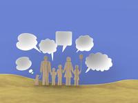家族と吹き出し 10404010903| 写真素材・ストックフォト・画像・イラスト素材|アマナイメージズ