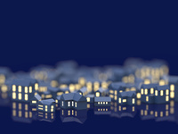 街並と窓の明かり 10404011152| 写真素材・ストックフォト・画像・イラスト素材|アマナイメージズ