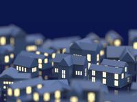 街並と窓の明かり
