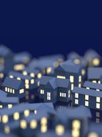 街並と窓の明かり 10404011154| 写真素材・ストックフォト・画像・イラスト素材|アマナイメージズ