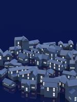 街並と窓の明かり 10404011155| 写真素材・ストックフォト・画像・イラスト素材|アマナイメージズ
