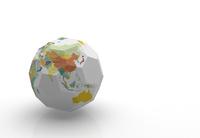 立方体の世界地図