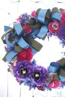 お花とリボンのリース 10405000811| 写真素材・ストックフォト・画像・イラスト素材|アマナイメージズ