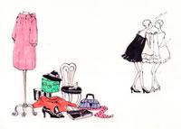 洋服を選ぶ女性 10416000006| 写真素材・ストックフォト・画像・イラスト素材|アマナイメージズ