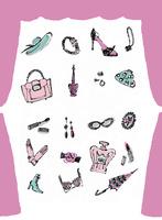 カーテンの中のファッション小物 10416000051  写真素材・ストックフォト・画像・イラスト素材 アマナイメージズ