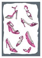 ヒールのあるレディス靴 10416000052  写真素材・ストックフォト・画像・イラスト素材 アマナイメージズ